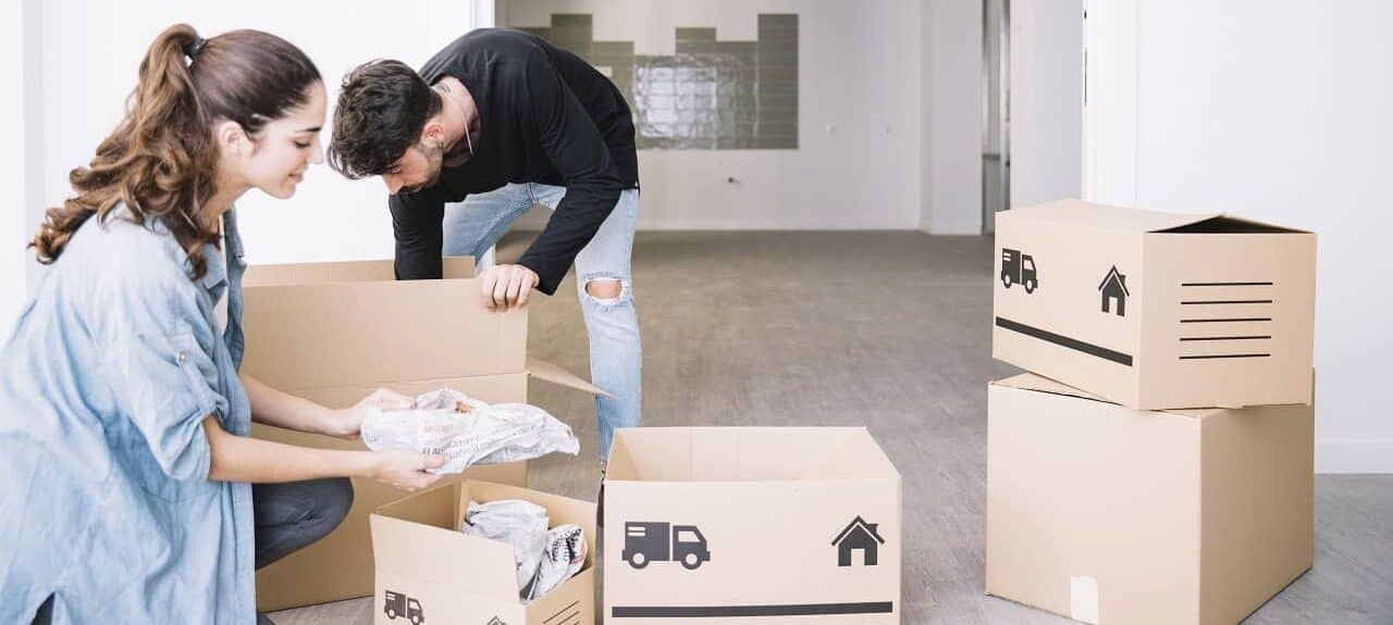 movers preparing for a local moving service
